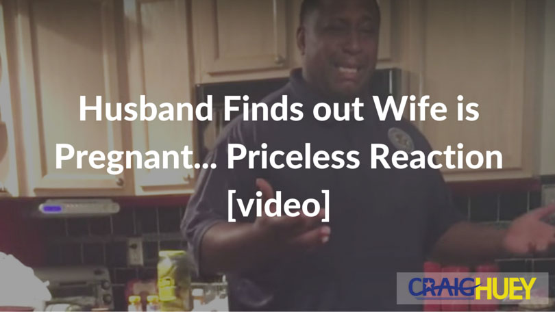 Husband Finds out Wife is Pregnant... Priceless Reaction [video]