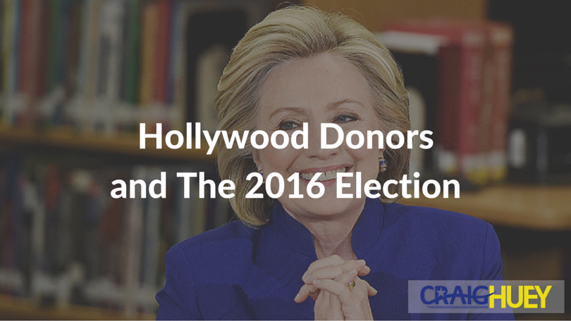 Hollywood Donors and the 2016 Election