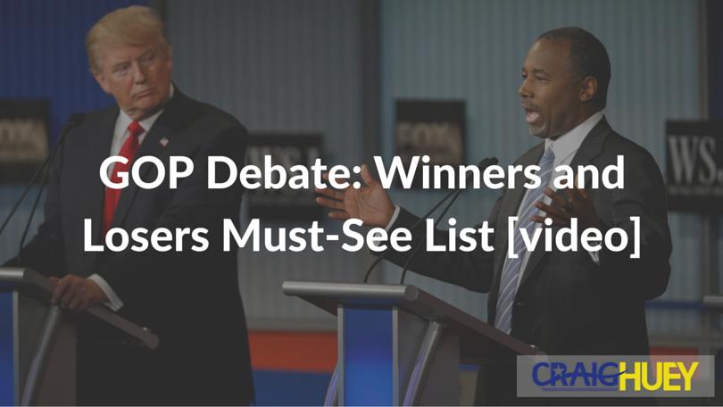 GOP Debate: Winners and Losers Must-See List [video]