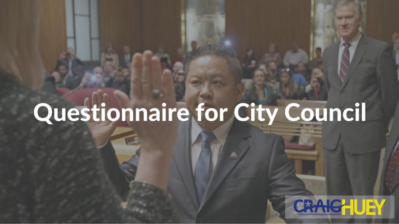 Questionnaire for City Council