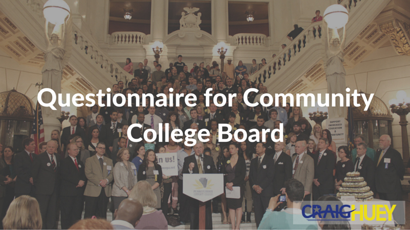 Questionnaire for Community College Board