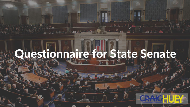 Questionnaire for State Senate