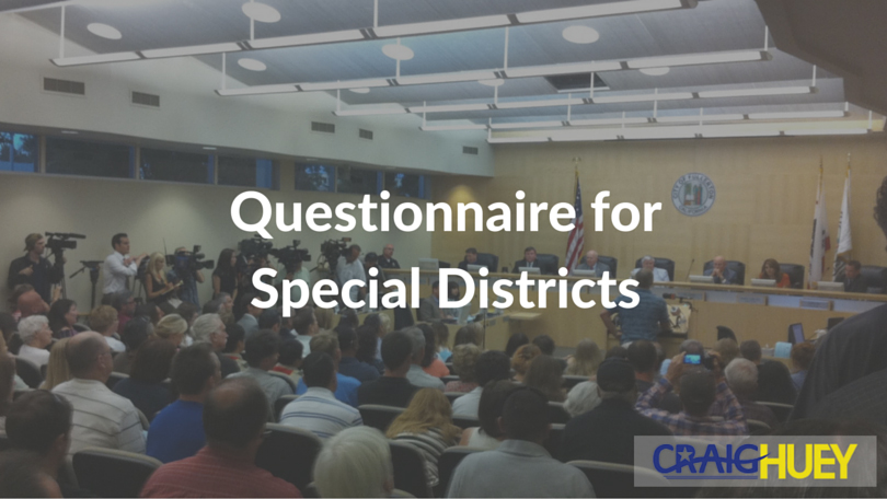 Questionnaire for Special Districts