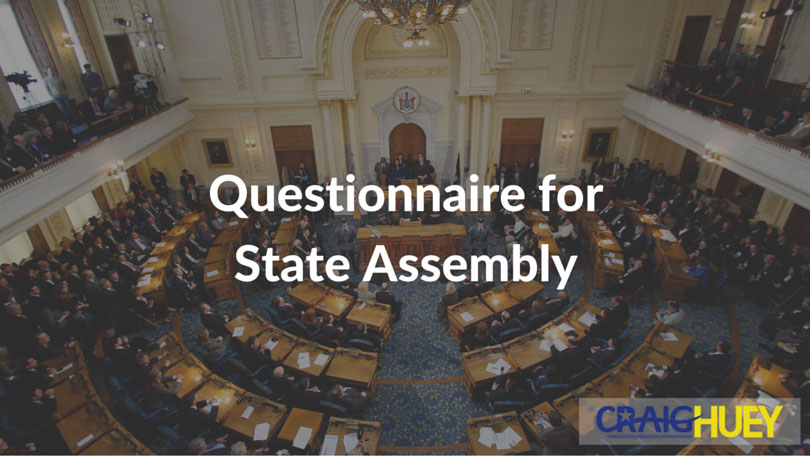 Questionnaire for State Assembly