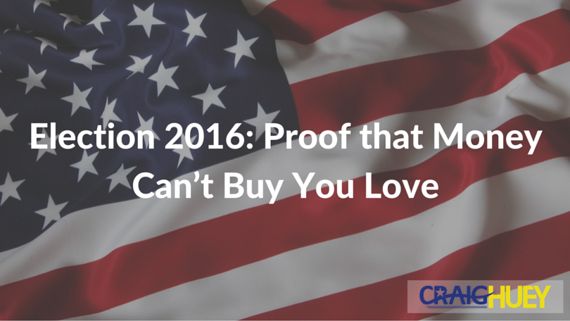 Election 2016: Proof that Money Can't Buy You Love