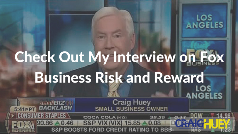Check Out My Interview on Fox Business Risk and Reward