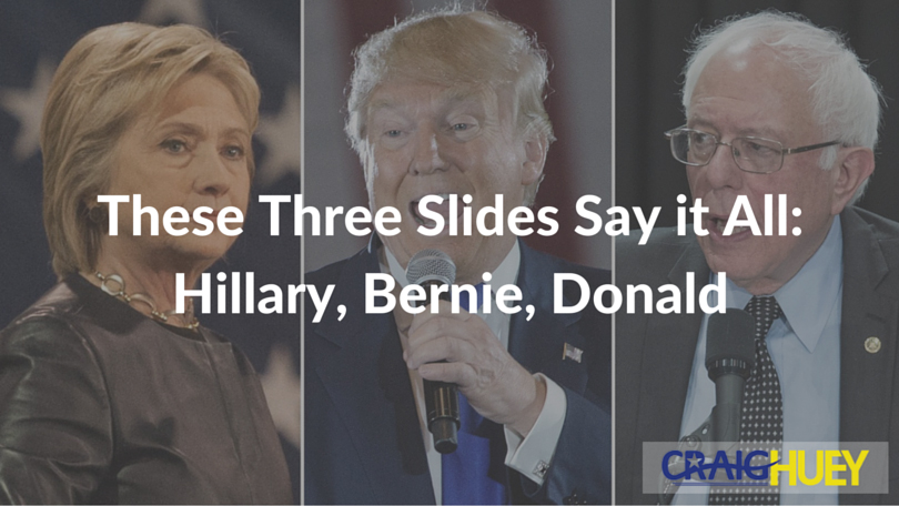 These Three Slides Say it All: Hillary, Bernie, Donald