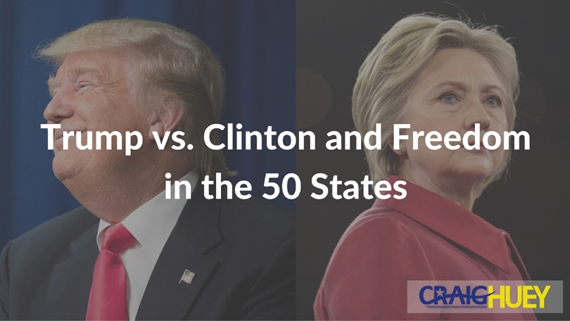 Trump vs. Clinton and Freedom in the 50 States